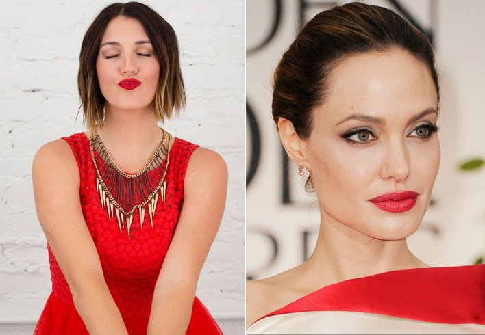 How to MakeUp you with Red Dress