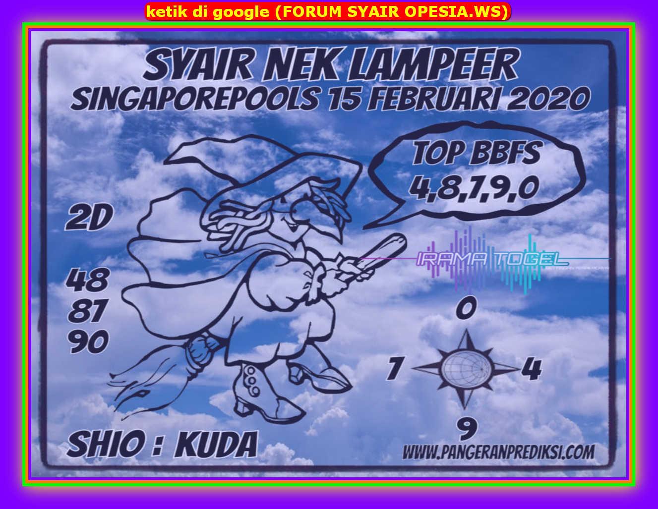Kode syair Singapore Sabtu 15 Februari 2020 115