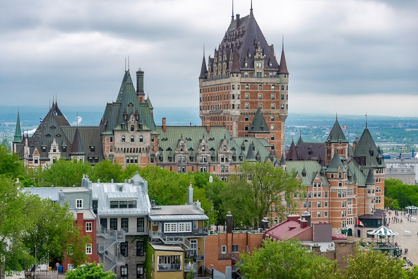 Quebec City, Canada. May 2018 photo by Corey Templeton. A Thursday look back at the Fairmont Le Château Frontenac in Quebec City, from May.