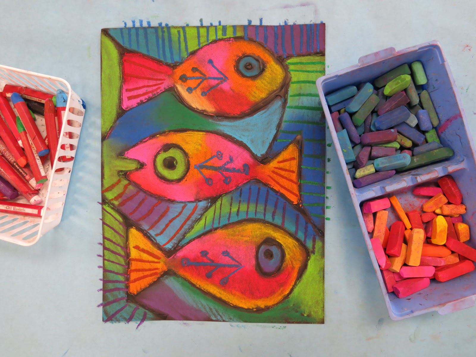 Cassie Stephens: Chalked Folk Art Fish