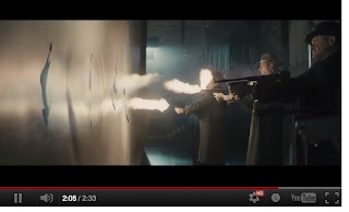 GANGSTER SQUAD - Tommy Gun bullets into unsuspecting faces