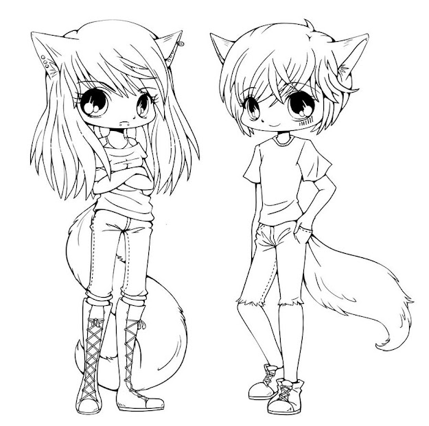 Ive Been Given Permission So This Lineart Is Available For Color You  Can Aliex And Kiyo Lineart Anime Coloring Pages