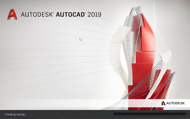 Auto CAD 2019 Lunching Screen