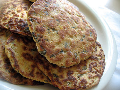 fenugreek roti savory Indian pancake
