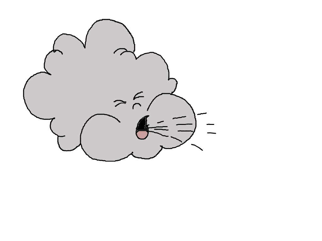 Cloud Blowing Clipart ...