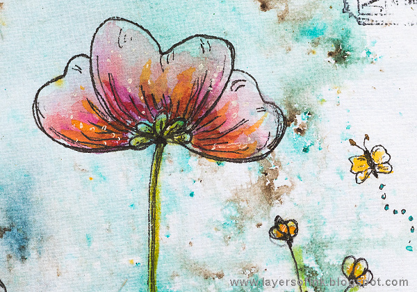 Layers of ink - Doodled Wildflower Garden Journal Page by Anna-Karin Evaldsson