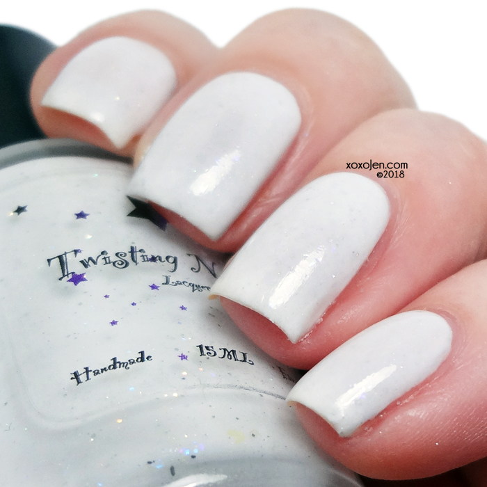 xoxoJen's swatch of Twisting Nether Freshly Fallen Snow