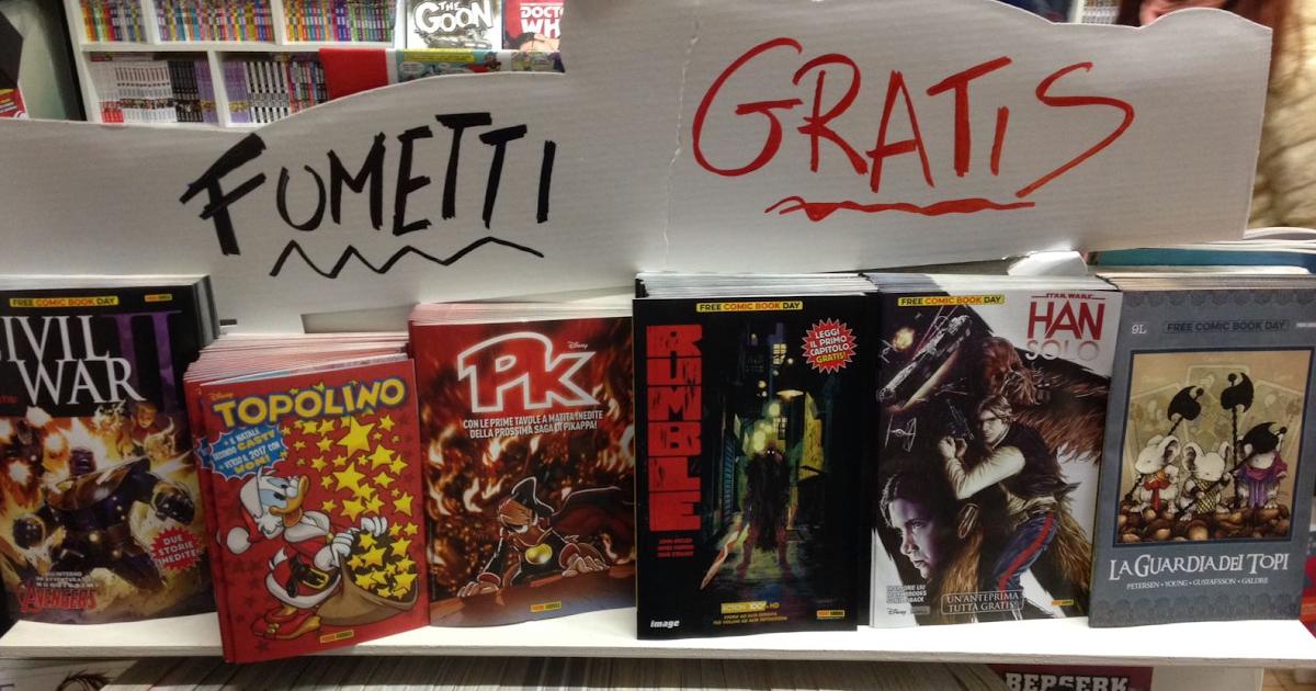 2-3 dicembre: 13 anni del negozio, PONTICELLI e BIAGINI, Free Comic Book Day, offerte e fumetti GRATIS!