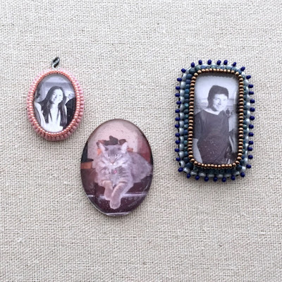 Free tutorial: Bead Embroidered Frames - Lisa Yang's Jewelry Blog
