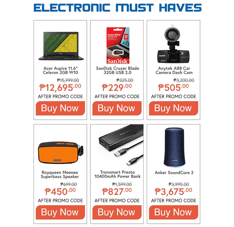 Other gadgets on sale