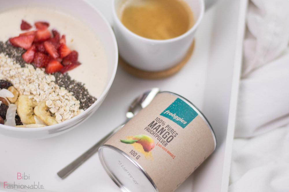 Sunrise Breakfast Bowl Frooggies Mango Fruchtpulver liegend