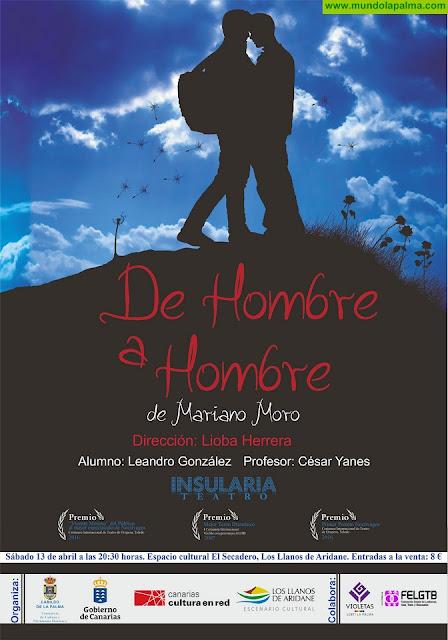 El Cabildo programa la función de teatro 'De hombre a hombre', galardonada en el marco de su temática LGTB