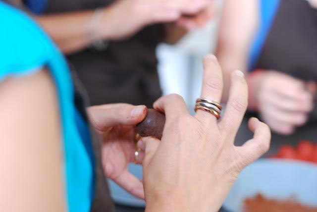 Truffes au chocolat infusées à la lavande