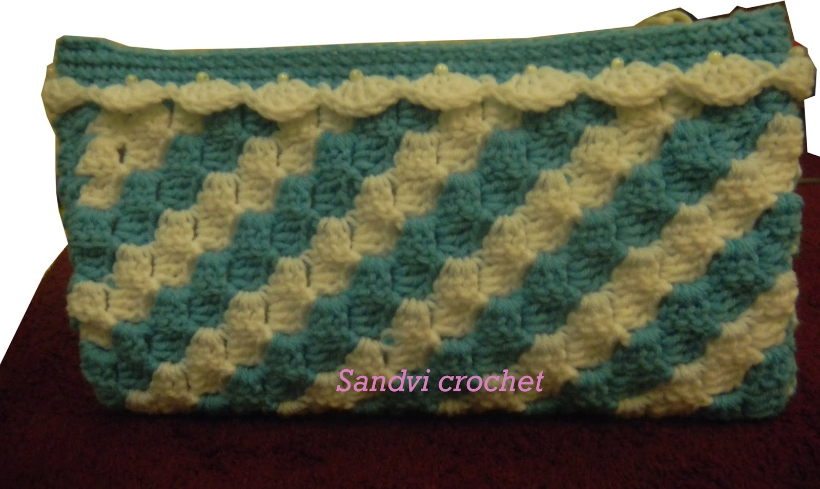 For The Love Of Crochet Along Crochet Diagonal Block Stitch Purse