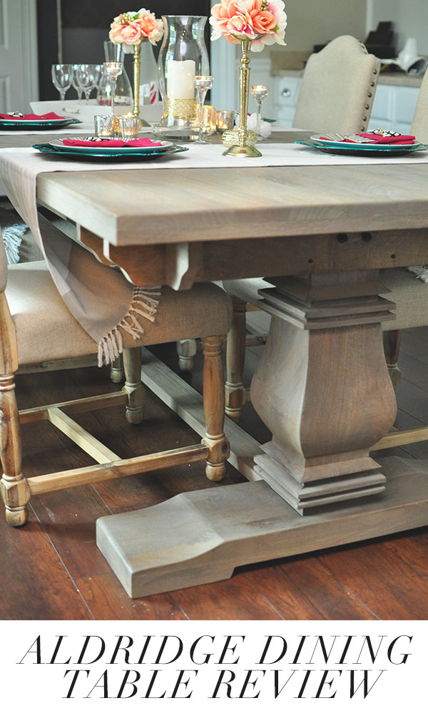 Home Decorators Aldridge Dining Table Review | Monica Wants It