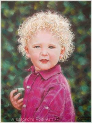 child portrait painting, baby portrait custom