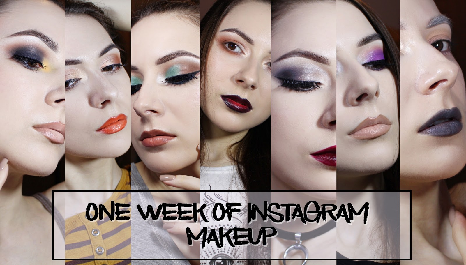 one week 7 days instagram makeup face blogger