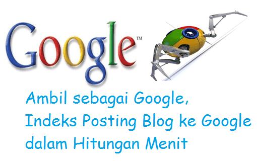 Cara Agar Posting Cepat Terindeks Google
