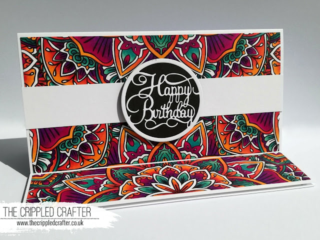 Using colouring pages in cardmaking by Sam Lewis AKA The Crippled Crafter | Spectrum Noir
