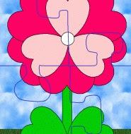 mainan puzel bentuk bunga dari kertas print