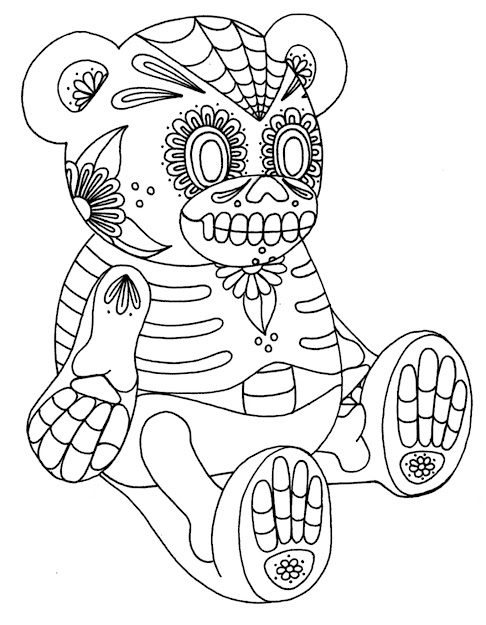 Sugar Skull Coloring Page  Printable Coloring Pages