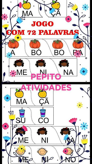 Jogo Pedagógico Monta Palavras Alfabetização PDF