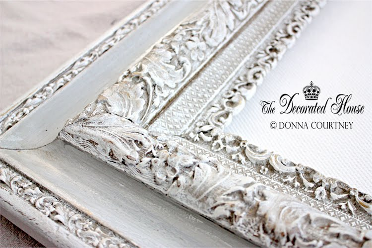 The Decorated House :: Annie Sloan Chalk Paint on a Vintage Frame. Glaze and Wet Distressing