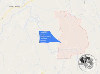 PETA Desa Jatibaru, Kecamatan Ciasem