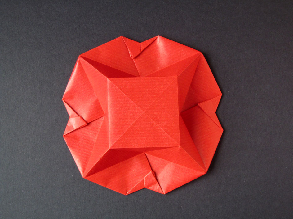 Origami Scatola Stella-fiore, variante, retro - Flower-star box, variant, back, , Francesco Guarnieri