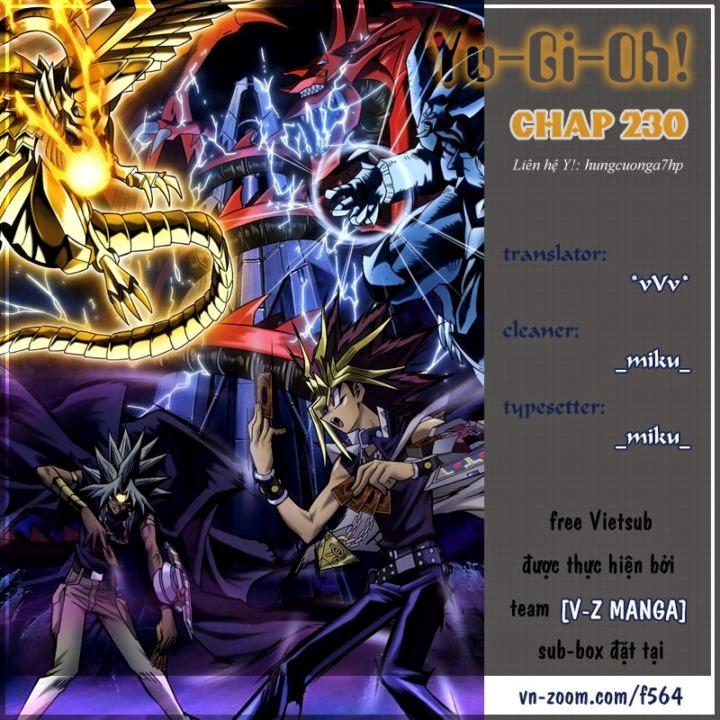 YUGI-OH! chap 230 - thay đổi tương lai! trang 1