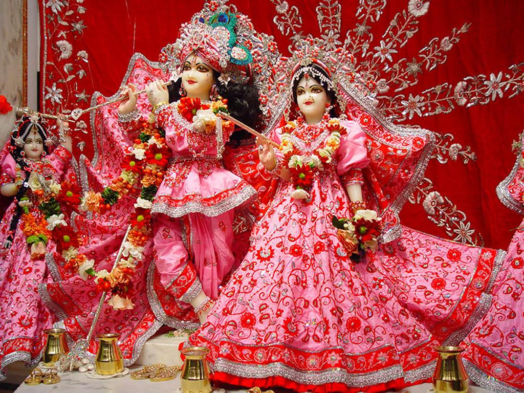 Sai Baba Wallpaper Download 3d Radha Krishna In Beautifful Pink Dress Hd Wallpapers God