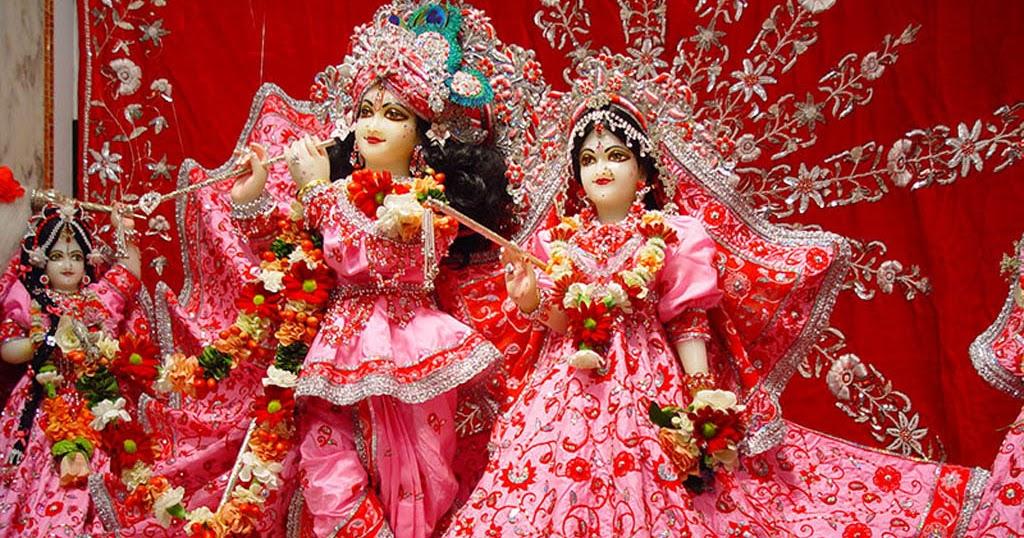 radha krishna beautiful pink dress hd wallpapers