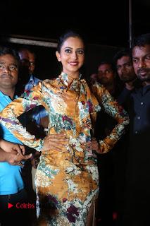 Actress Rakul Preet Singh Stills in Short Dress at Dhruva Pre Release Function  0004.JPG
