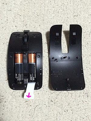 単三電池2本で稼動