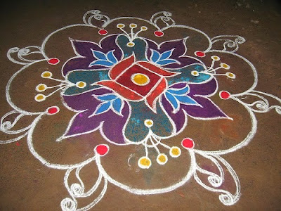 Happy Pongal Rangoli Kolam Designs