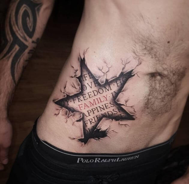 50 Best Star Tattoos For Men 2019 Nautical Shooting Designs