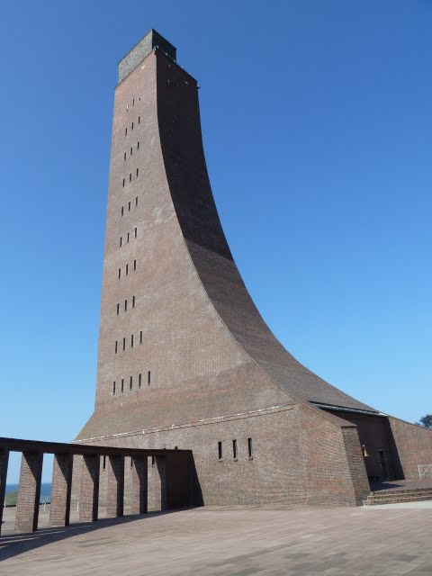 The impressive tower of the Marine Ehrenmal at Laboe Germany
