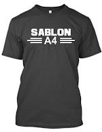 Kaos Sablon A4 (1 Warna)