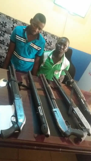 armed robbers arrested pump action rifles