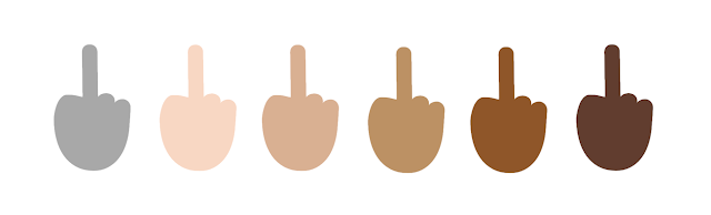 Das Stinkefinger Emoji  in Windows 10