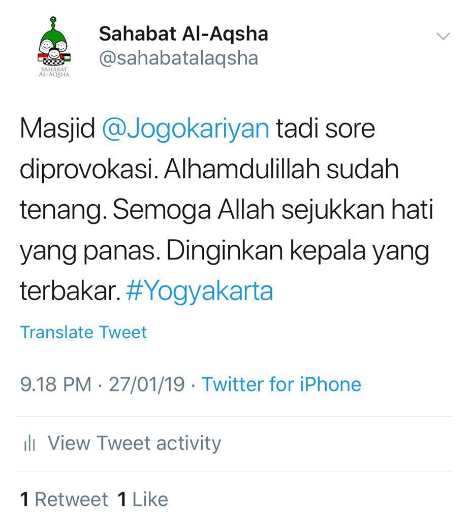 Bijak! Ini Tanggapan Sejuk Masjid Jogokariyan
