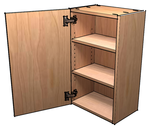 How to build frameless wall cabinets for Cupboard cabinet designs