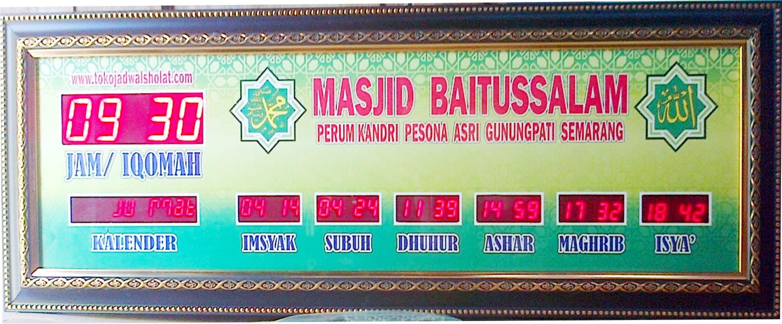 Pusat Produksi Jam Jadwal Sholat Digital Running Text Controller P10 Wifi Android Dinding Untuk Masjid 118 Membuat 46