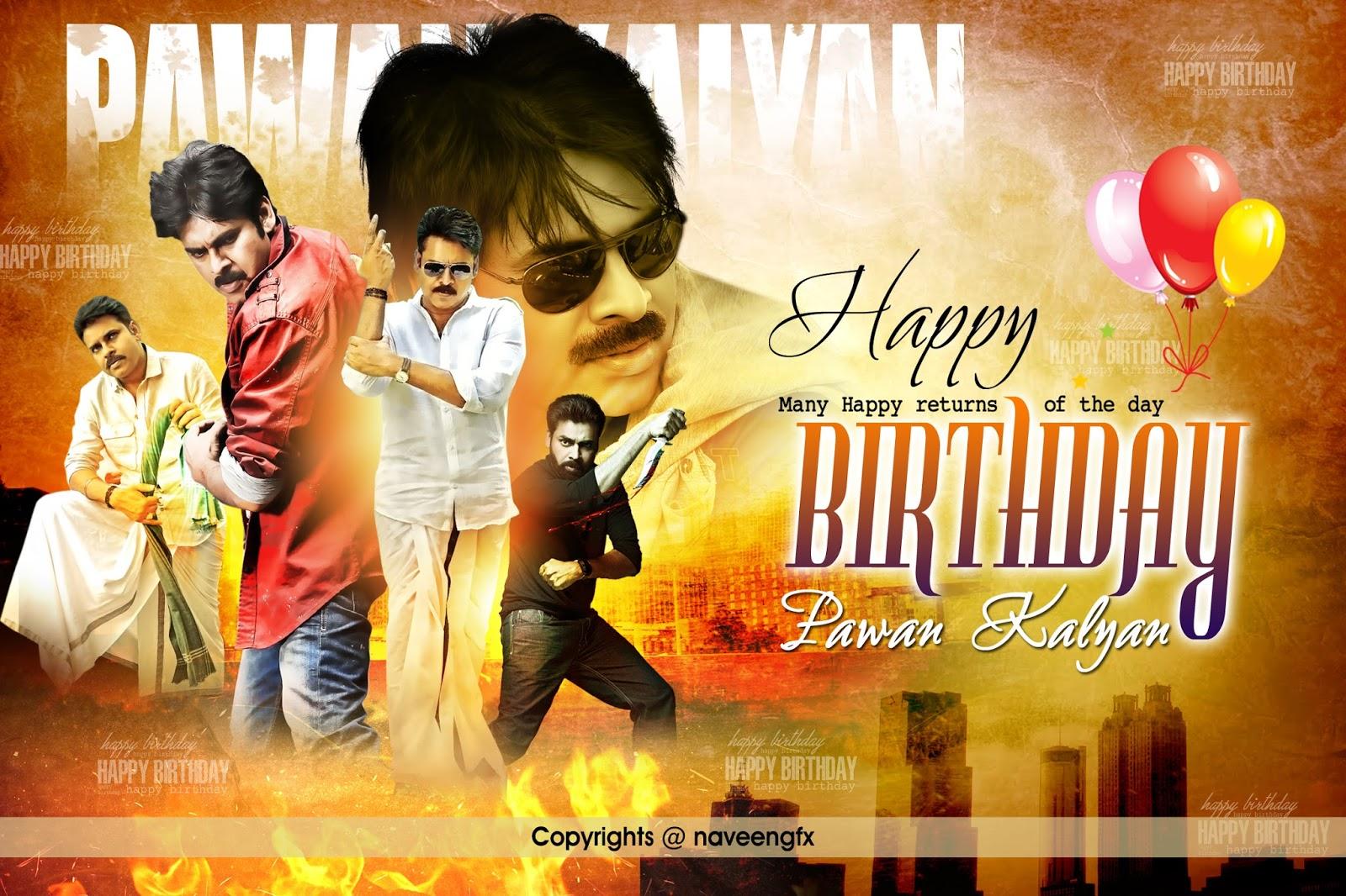 pawan kalyan birthday psd template free downloads for designers