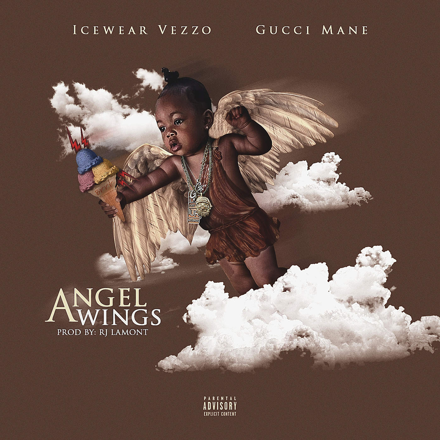 Icewear Vezzo - Angel Wings (feat. Gucci Mane) - Single Cover