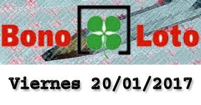 bonoloto viernes 20-01-2017