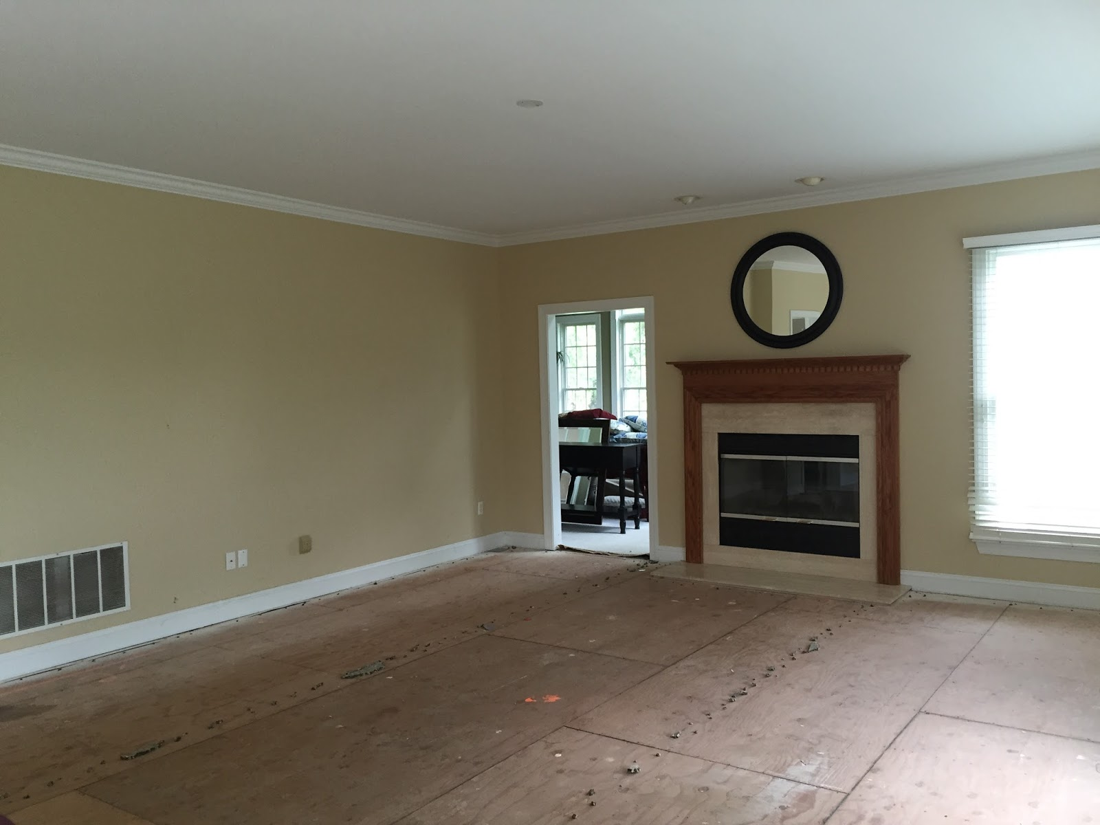 Family Room During Renovation