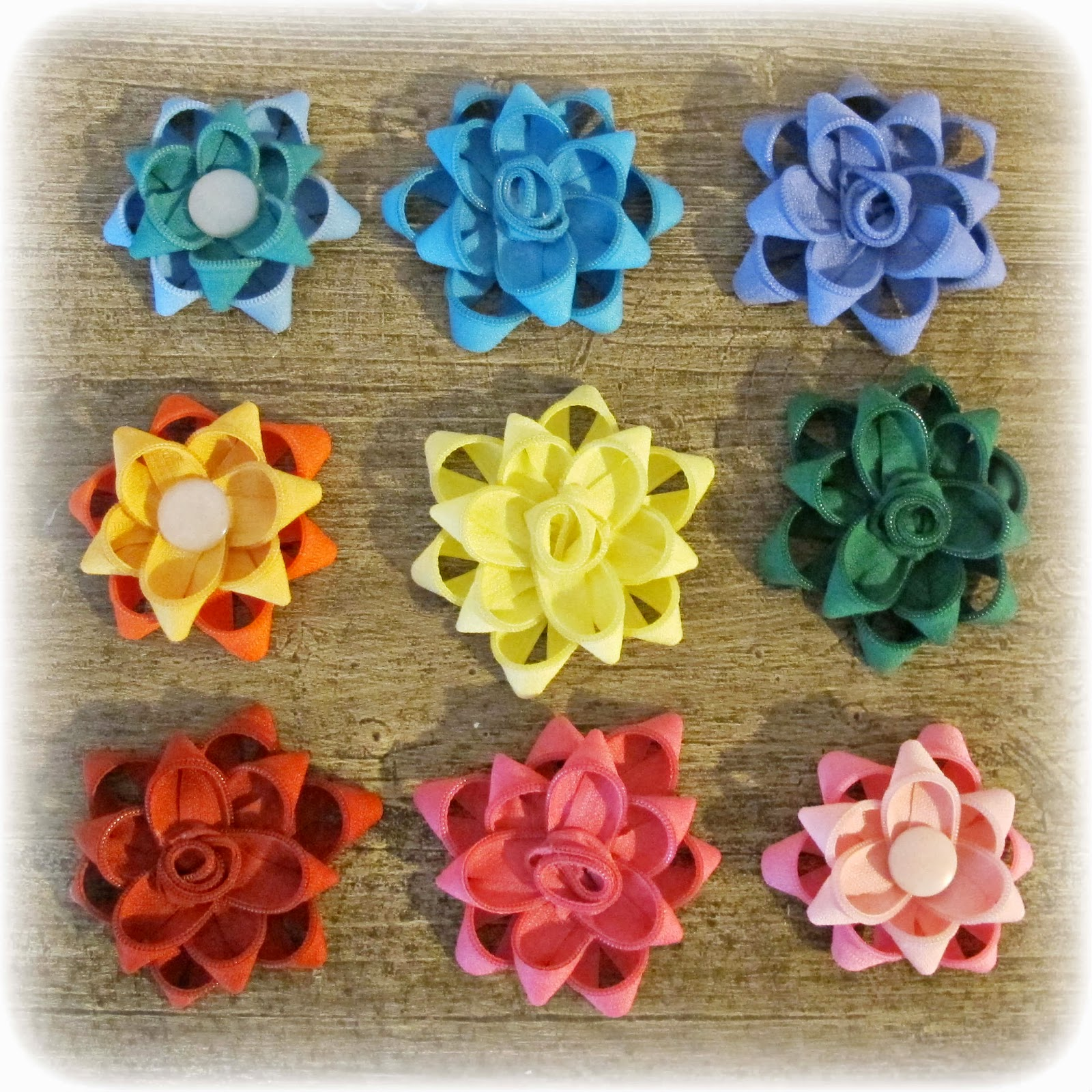 image zipper flowers upcycled recycled