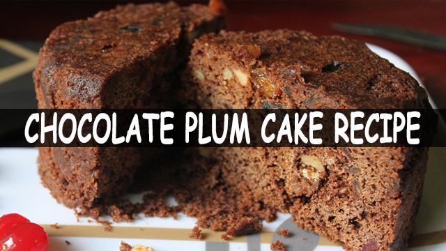 How To Make Chocolate Plum Cake | Chocolate Plum Cake Recipe | Cake Recipe