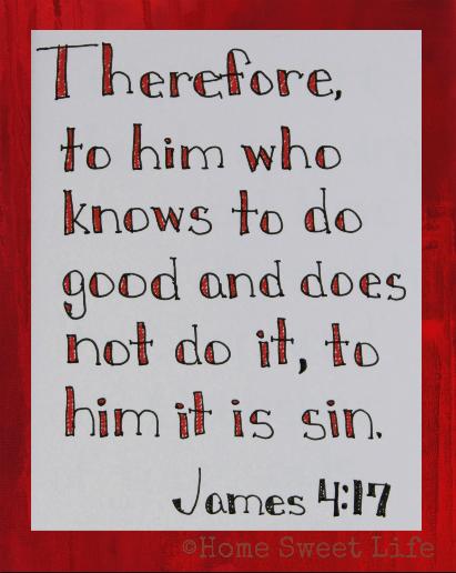 Scripture Writing, James 4:17